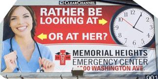 Memorial Heights billboard