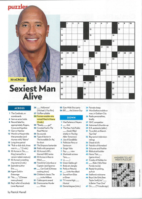 sexiest man alive crossword puzzle