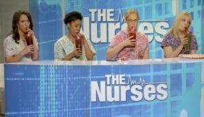 "Nurses drinking soda -- ""on break"""