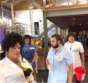 Naughty nurses raising money