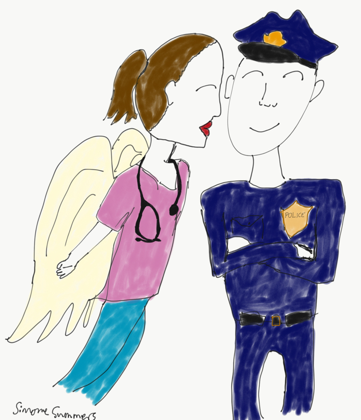 Kisses for Cops by Simone Summers