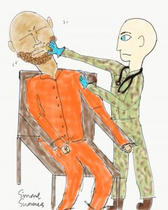 Navy nurse force-feeding Guantanamo prisoner