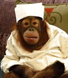 Precious the monkey nurse from Passions soap opera