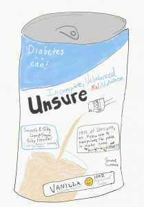 """Unsure"" liquid formula"