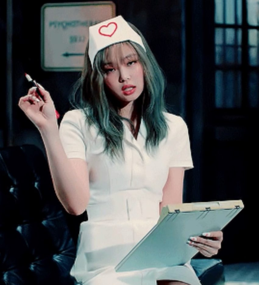 Jennie from Blackpink in a naughty nurse outfit